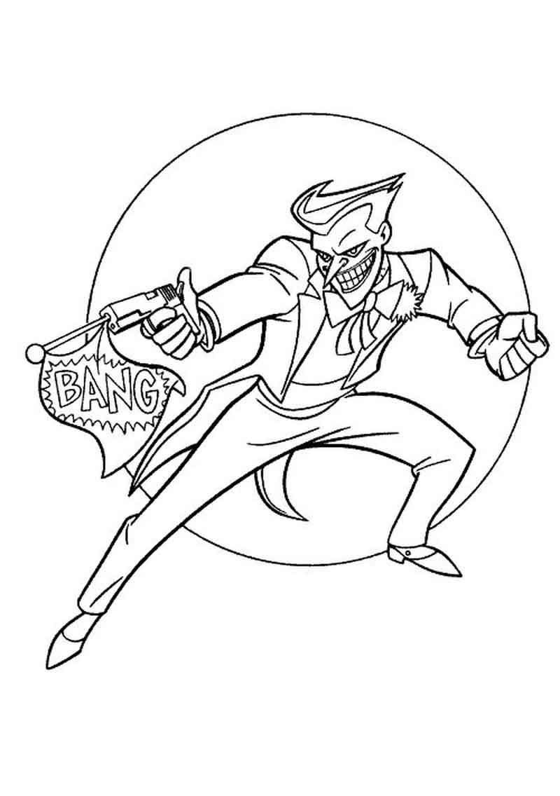 Free Joker Coloring Pages