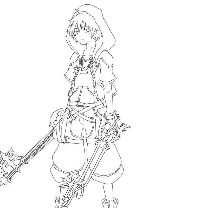 Free Kingdom Hearts Coloring Pages