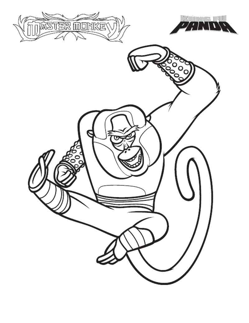 Free Kung Fu Panda Coloring Pages