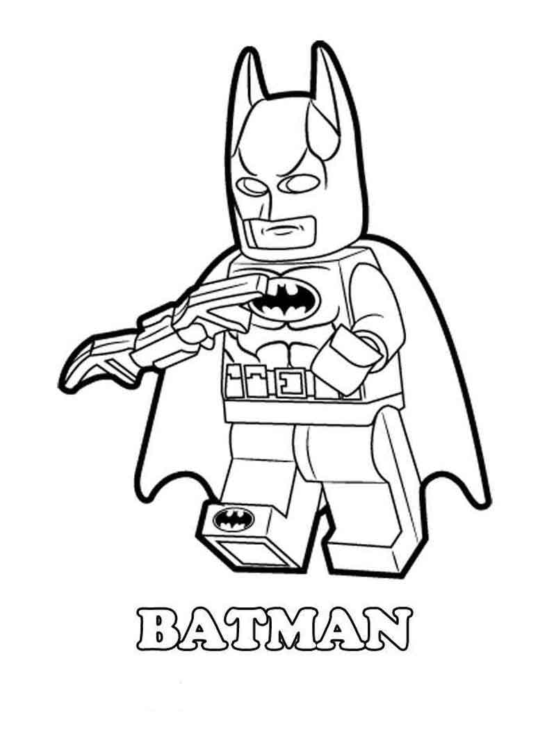 Free Lego Batman Coloring Sheet