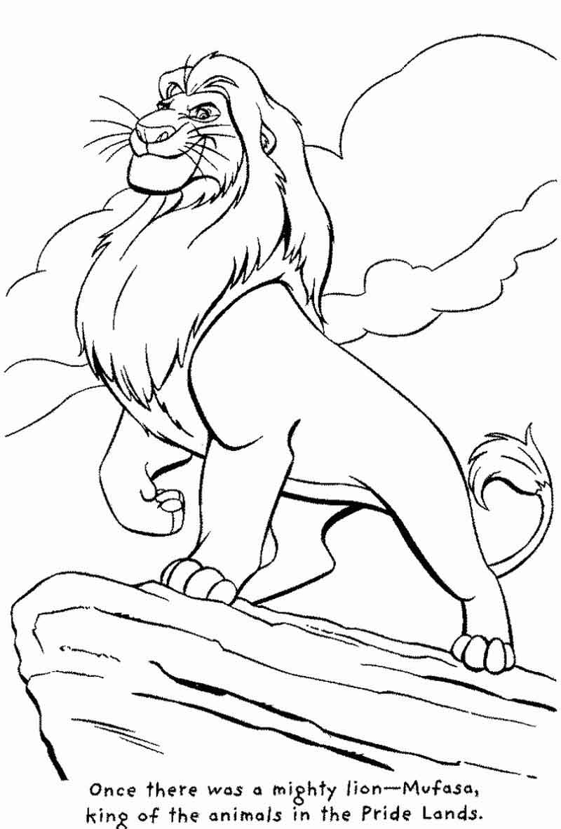 Free Lion King Coloring Sheets