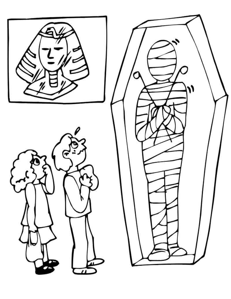 Free Mummy Coloring Pages