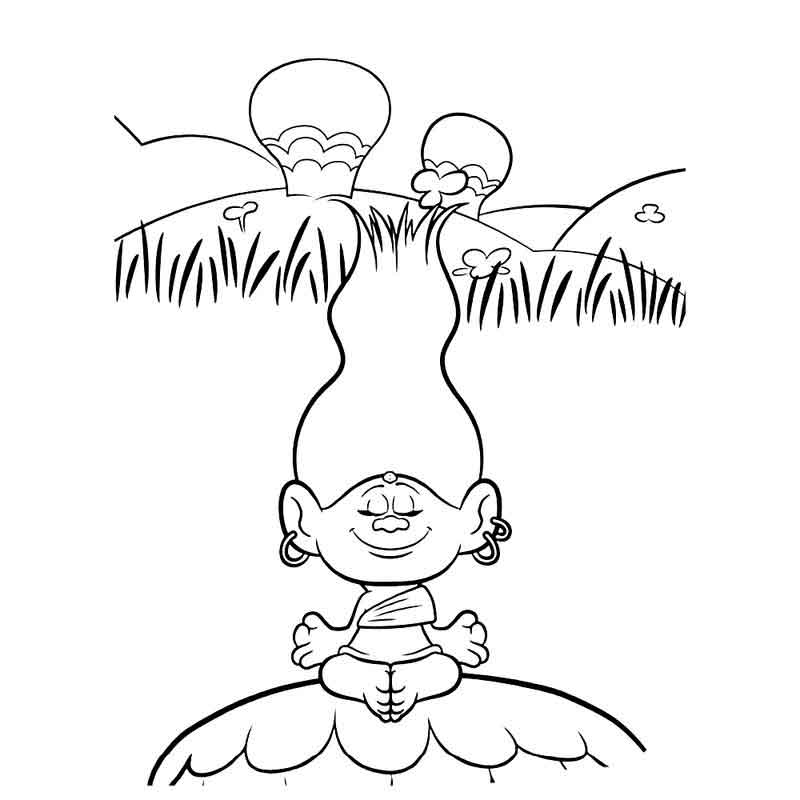 Free Printable Dreamwork Trolls Coloring Pages