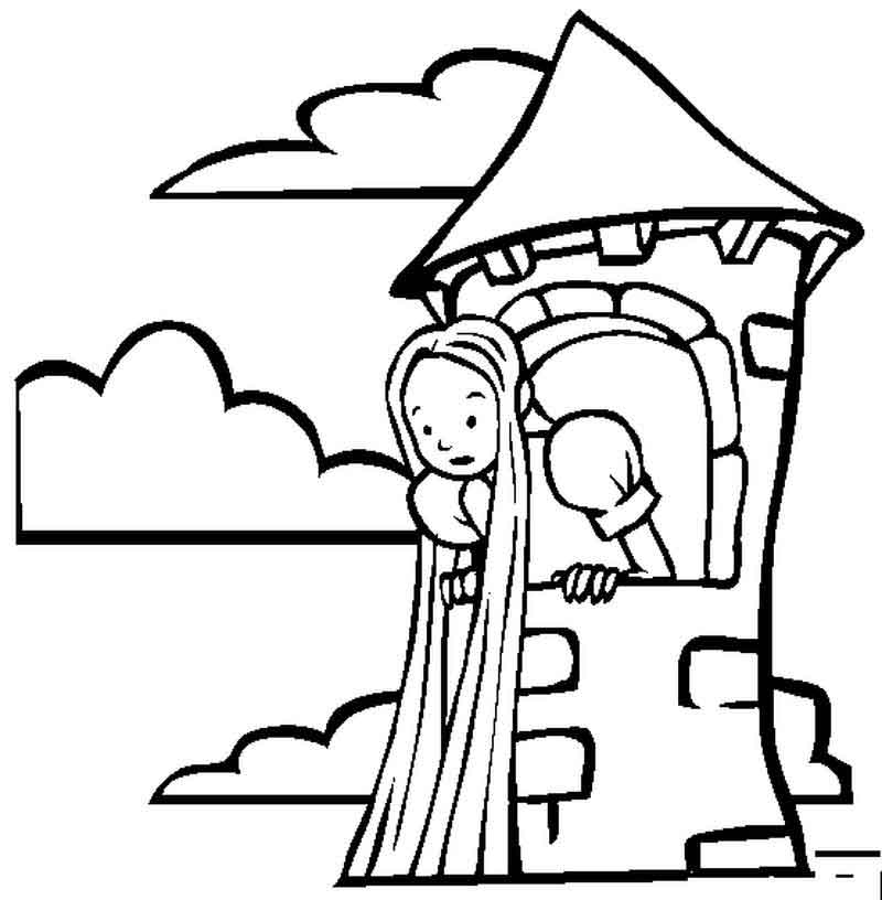 Free Printable Rapunzel Coloring Pages
