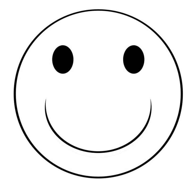 Free Printable Smiley Face Coloring Pages