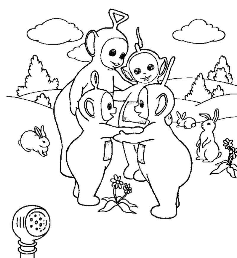 Free Printable Teletubbies Coloring Pages