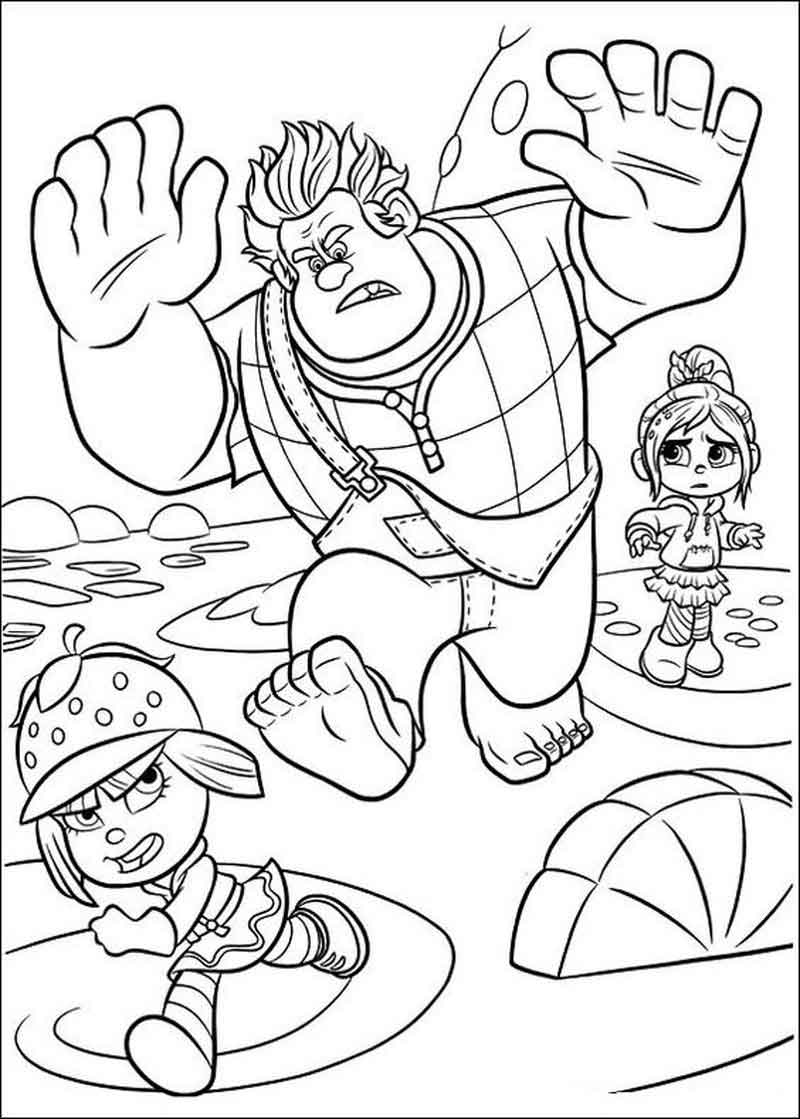 Free Printable Wreck It Ralph Coloring Pages