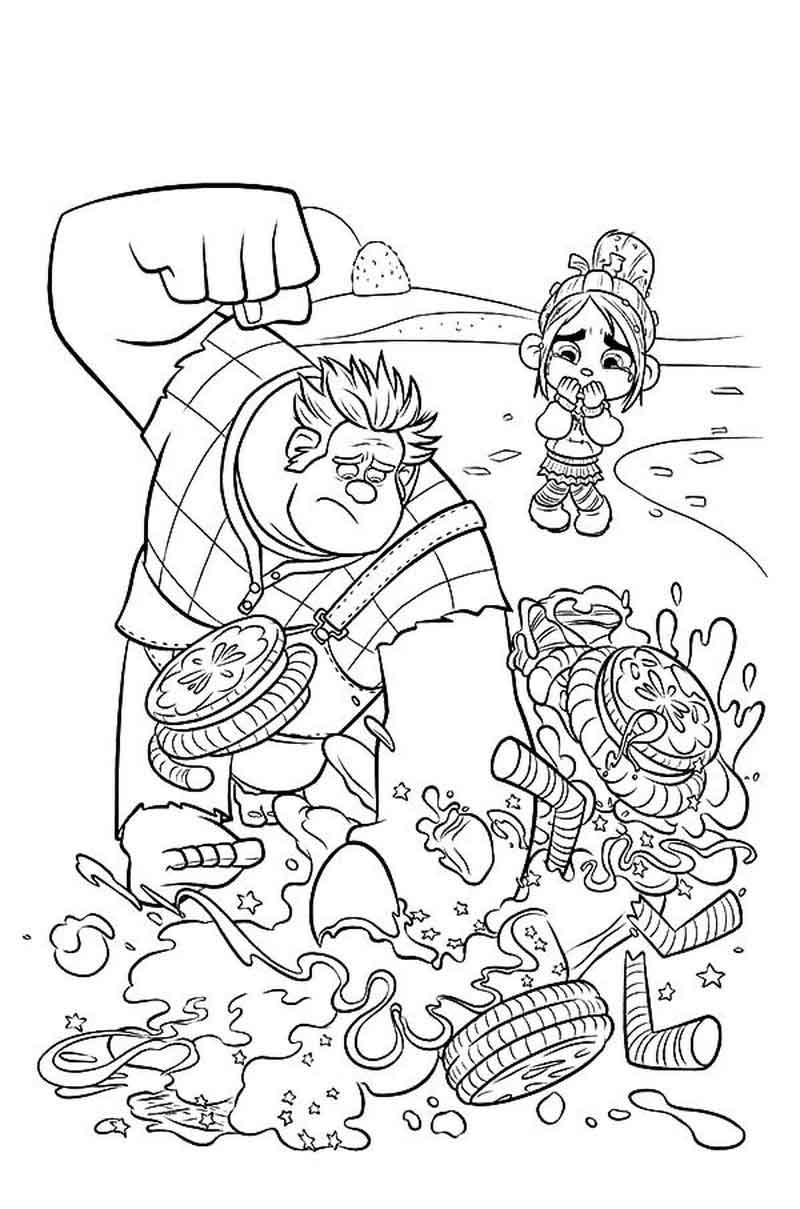 Free Printable Wreck It Ralph Coloring Pictures