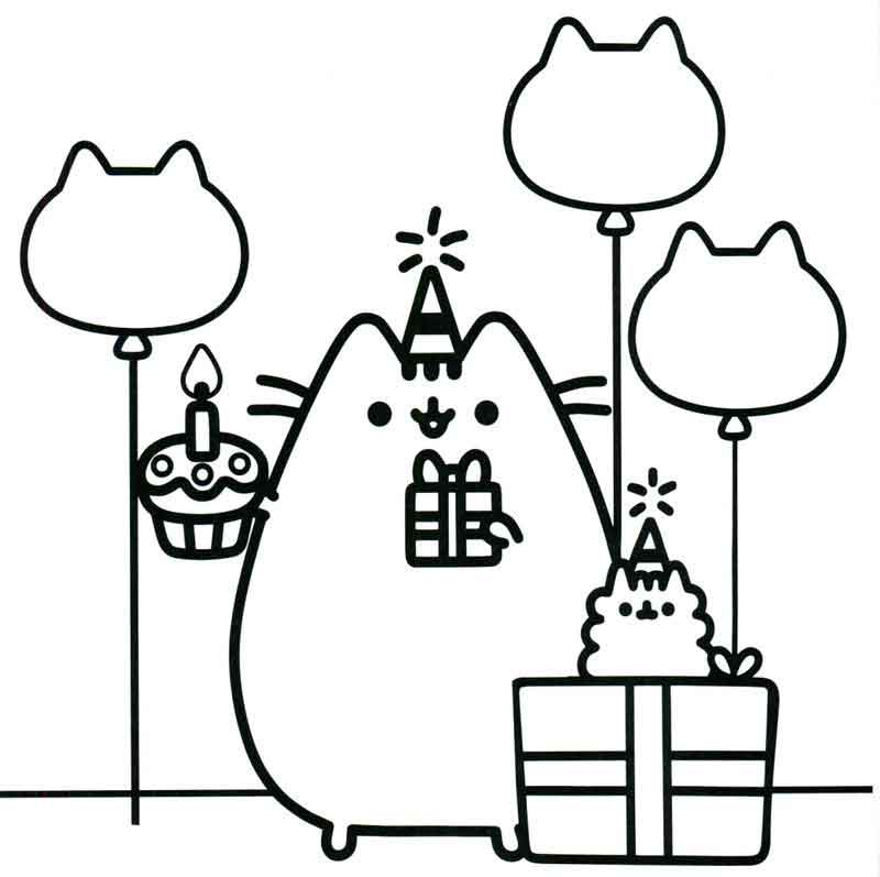 Free Pusheen Cat Coloring Pages