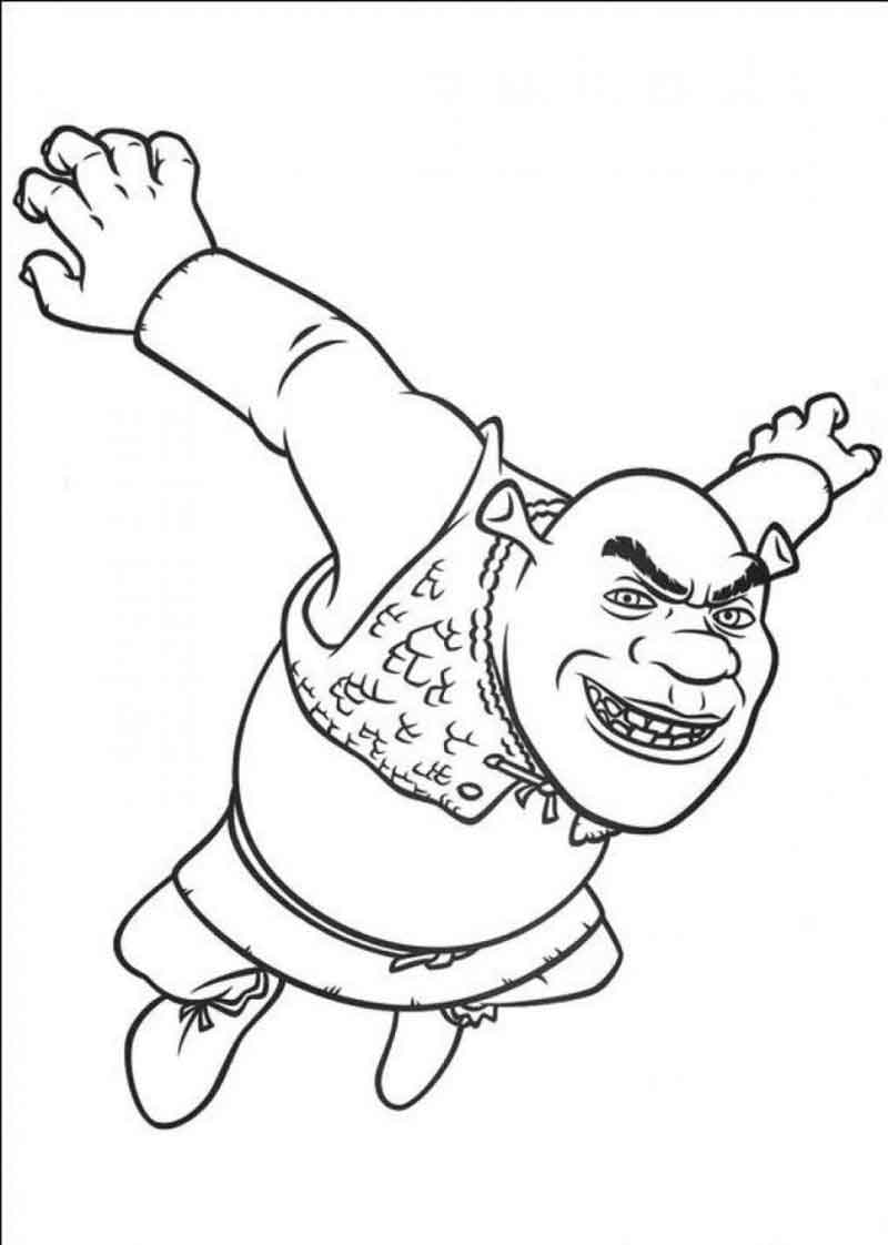 Free Shrek Coloring Pages
