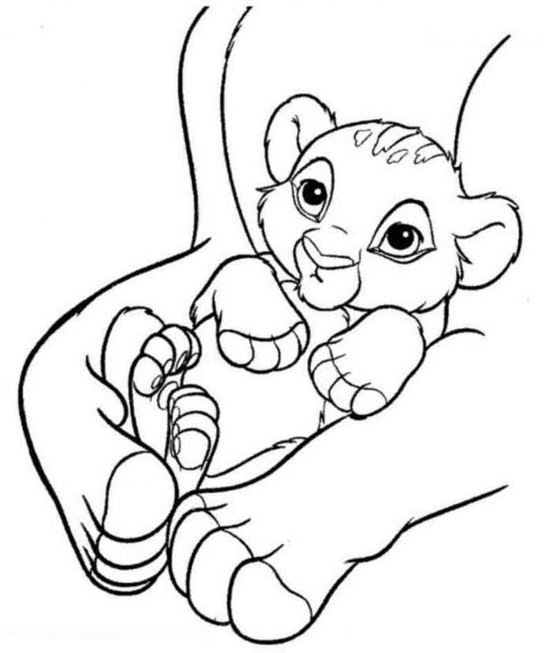 Free Simba Coloring Page For Kids