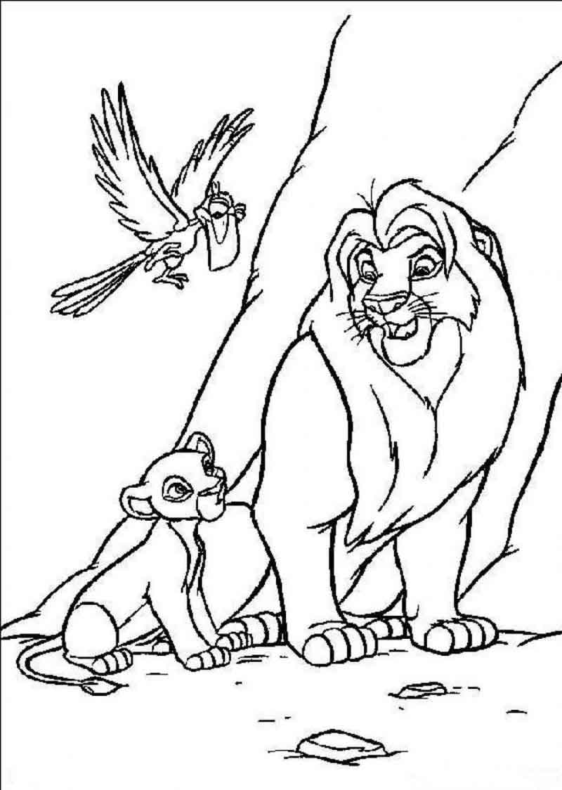 Free Simba Coloring Pages