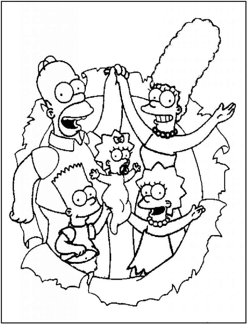 Free Simpsons Coloring Pages