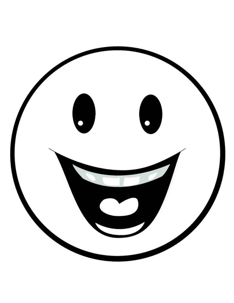 Free Smiley Face Coloring Pages For Kids