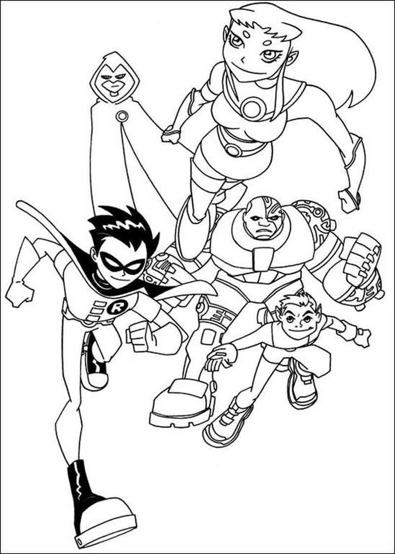 Free Teen Titans Coloring Pages Printable
