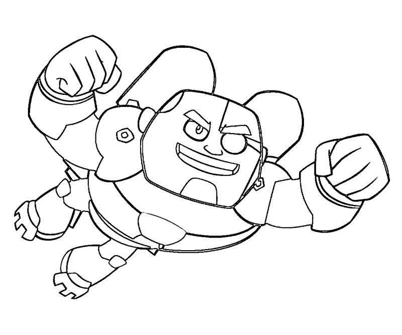Free Teen Titans Go Coloring Pages Cyborg