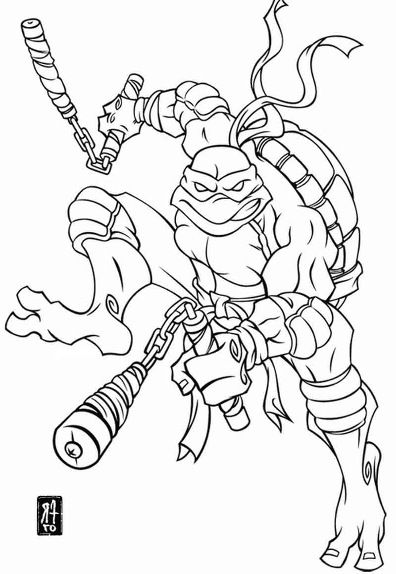 Free Teenage Mutant Ninja Turtles Coloring Page