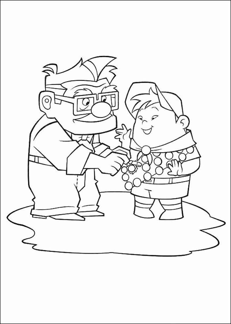 Free Up Coloring Page Printables