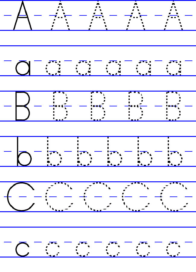 Free Abc Worksheets For Pre K Lowercase Uppercase 001