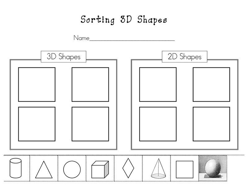 Free Activities On Sorting Shapes 001