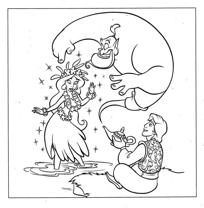 Free Aladdin Coloring Pages