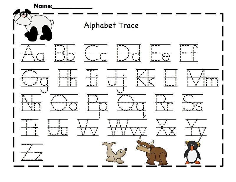 Free Alphabet Worksheets To Print Tracing