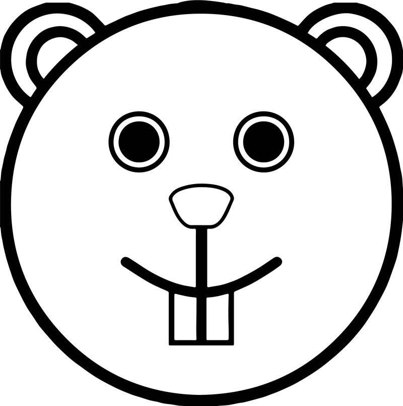 Free Animal Bunny Rounded Face Coloring Page