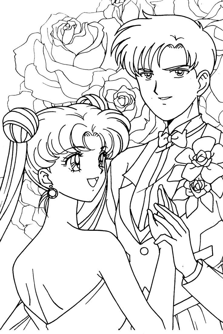 Free Anime Wedding Coloring Pages 001