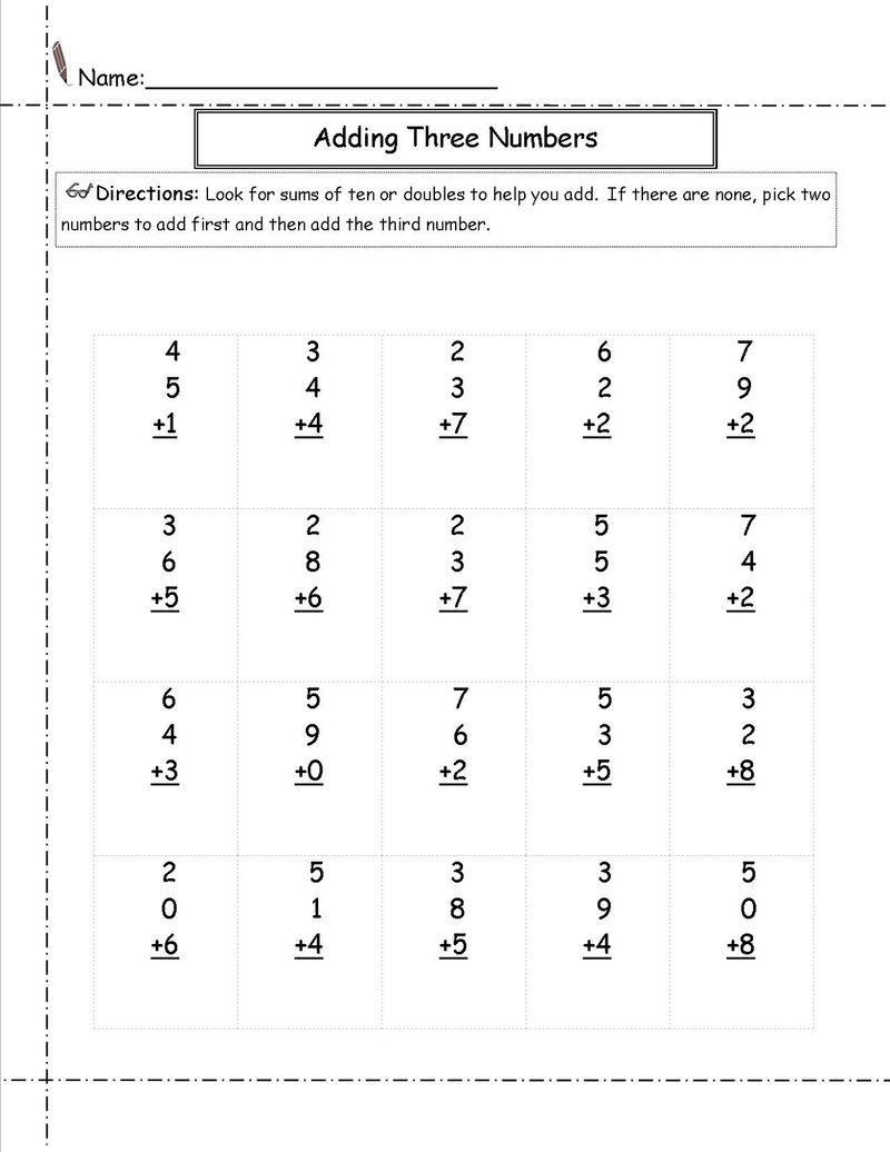 Free basic math worksheets grade math
