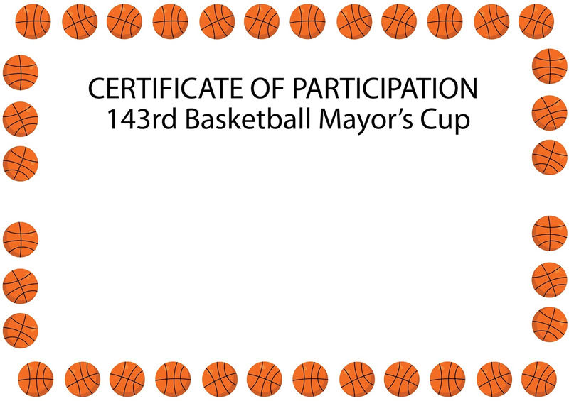 Free Basketball Certificates Simple 001