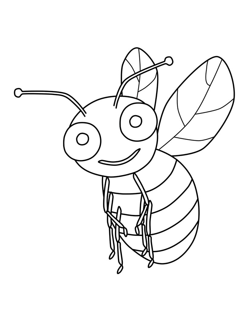 Free Bumble Bee Coloring Pages