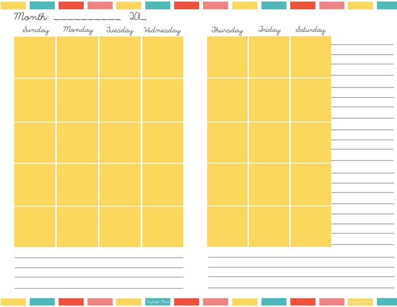 Free Colorful Planner Pages Image 001