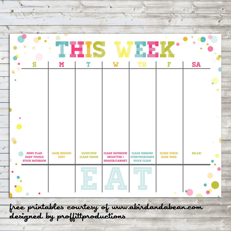 Free Colorful Planner Pages Printable 001
