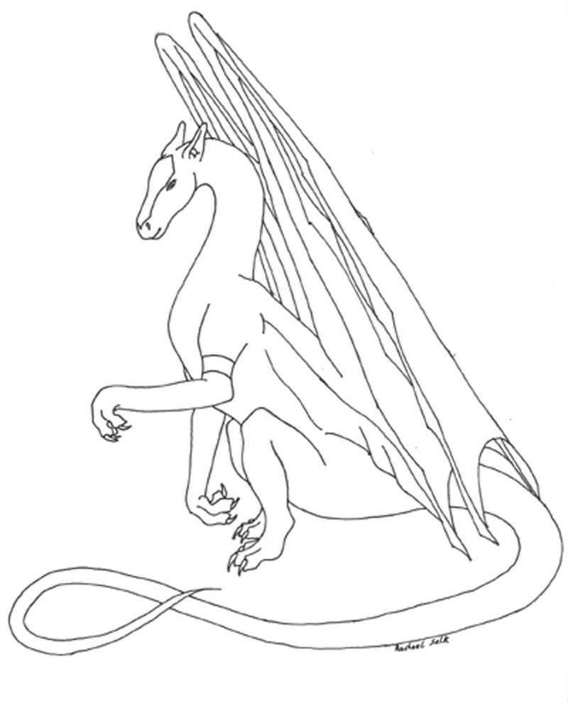 Free Coloring Pages Dragons 001