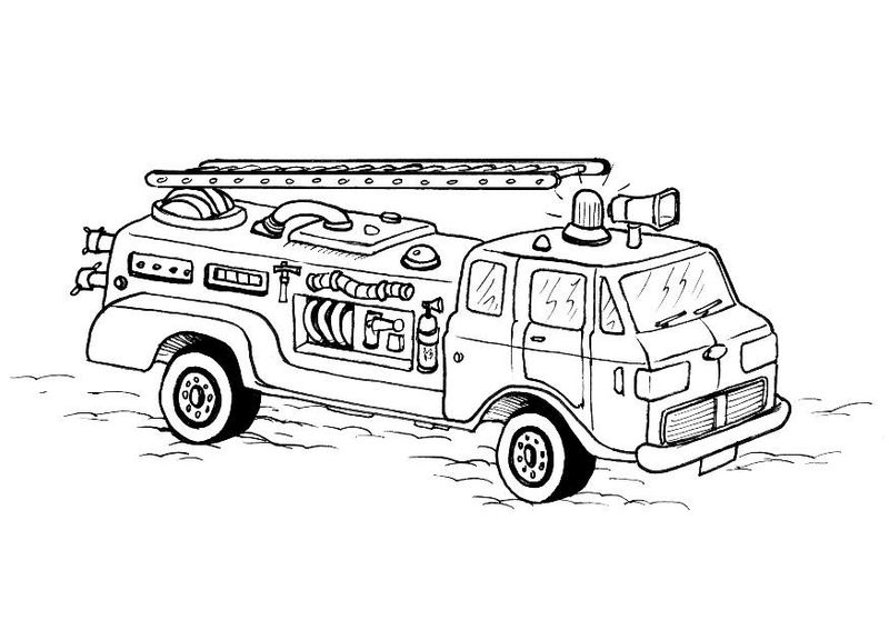 Free Coloring Pages Of Fire Trucks 001