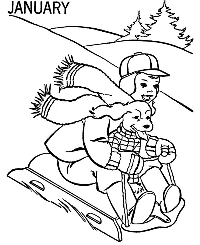 Free Coloring Pages Winter