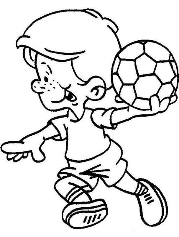 Free Colouring Pictures For Children Sport