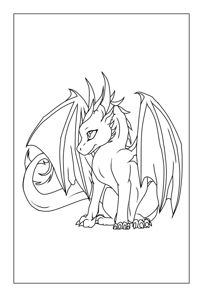 Free Cute Dragon Coloring Pages