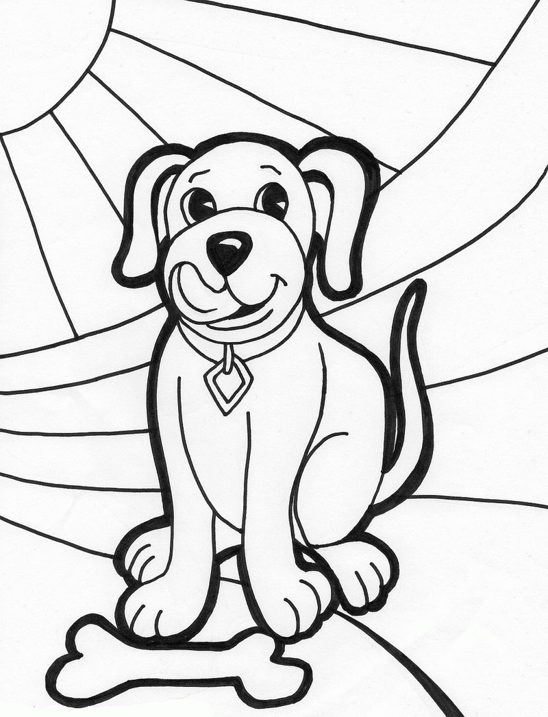 Free Dog Coloring Pages