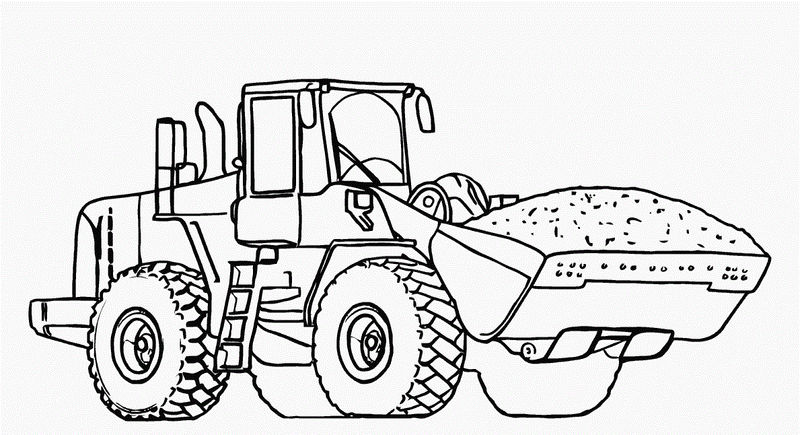 Free Dump Truck Coloring Pages 001