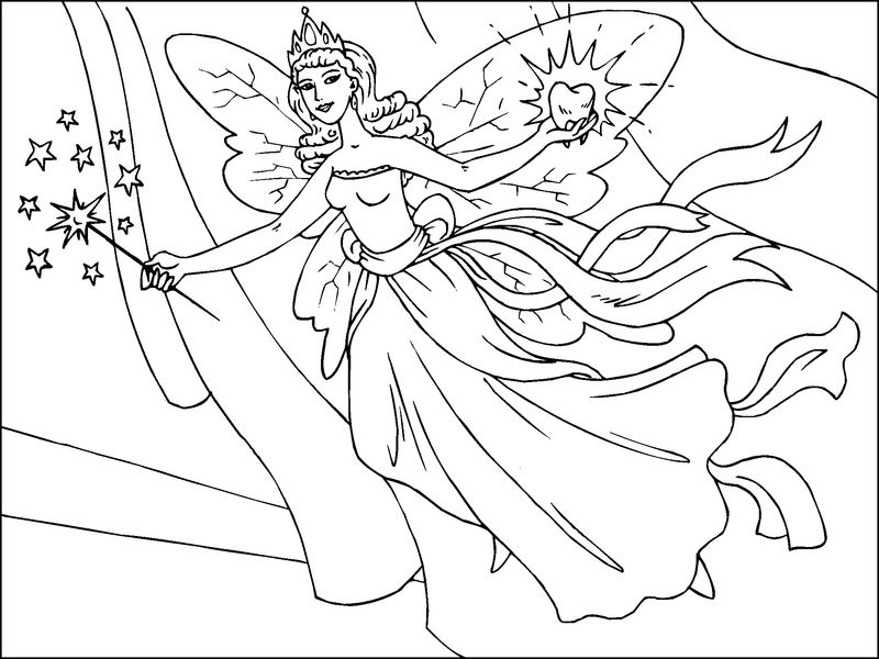 Free fairy coloring pages to print