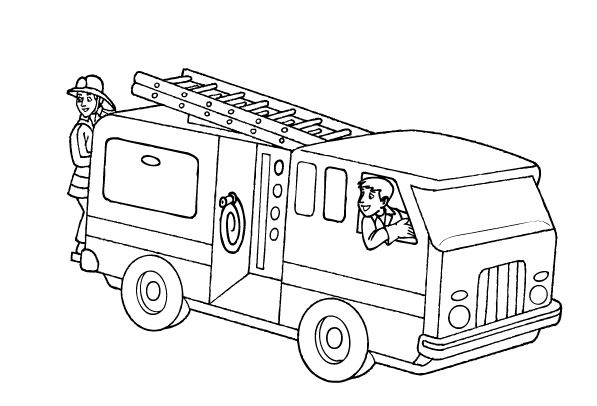 Free Fire Truck Coloring Pages 001