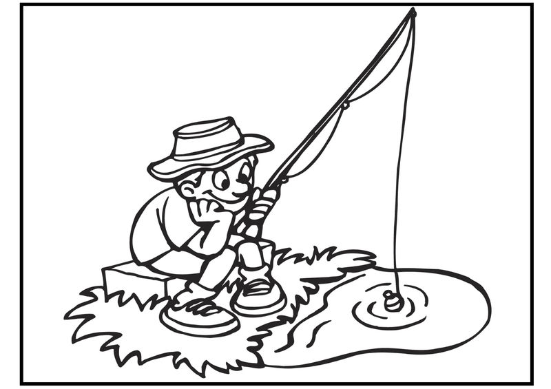 Free Fishing Coloring Pages 001