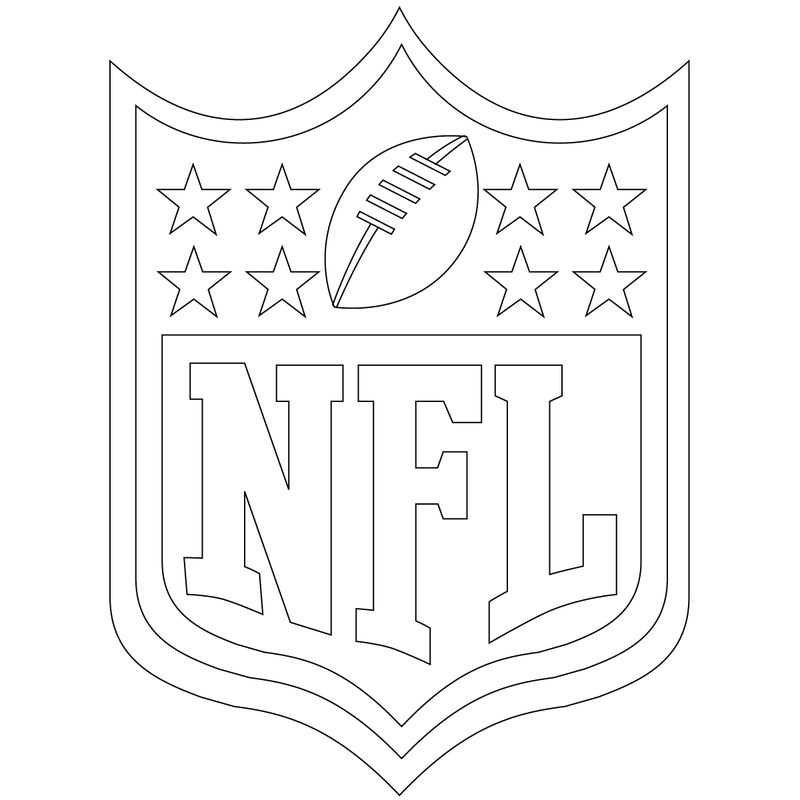 Free Football Coloring Nfl Shield 001