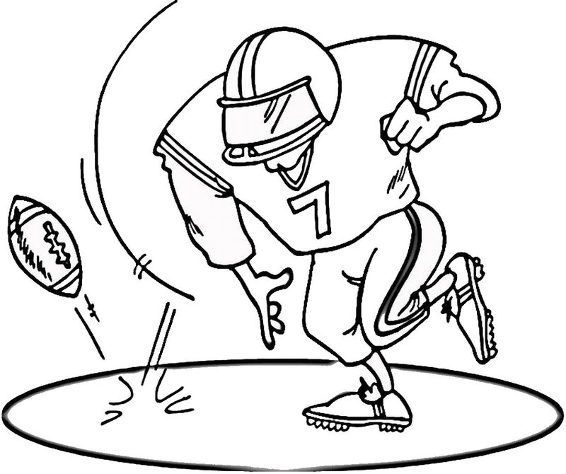 Free Football Coloring Pictures Worksheet
