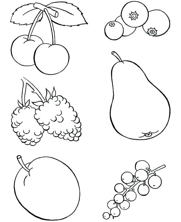 Free Fruits Coloring Page