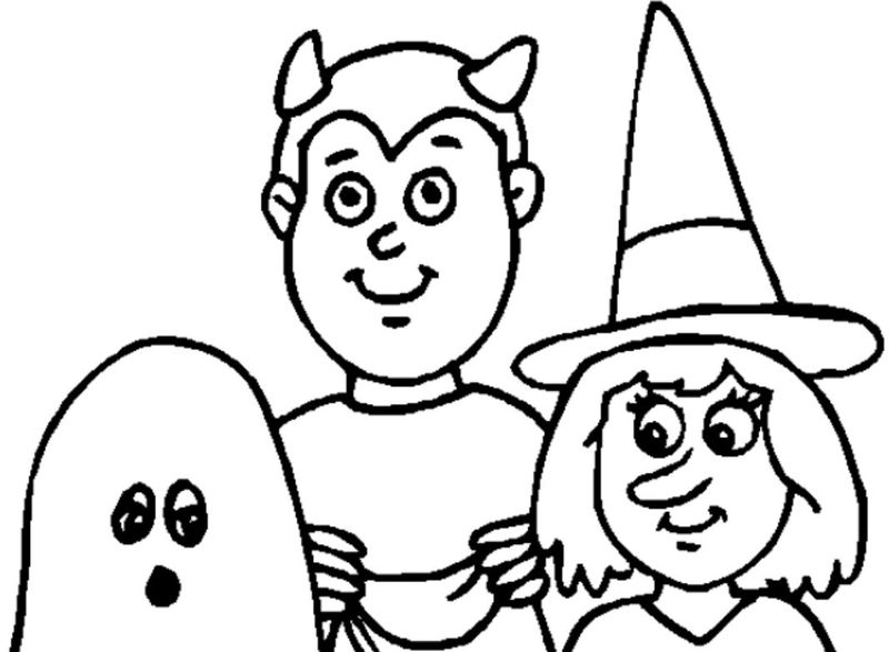 Free Halloween Coloring Pages 001