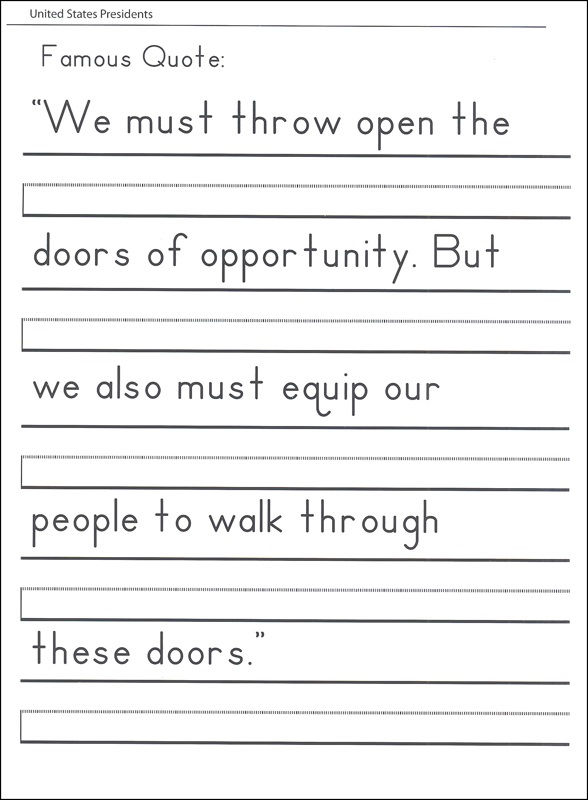 Free Handwriting Worksheets For Kids Quote