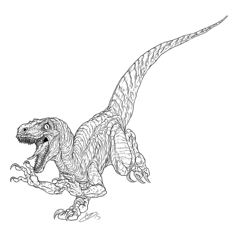 Free Jurassic World Dinosaur Coloring Pages