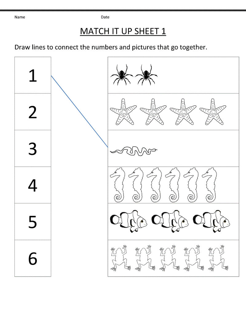 Free Kindergarten Worksheets Free
